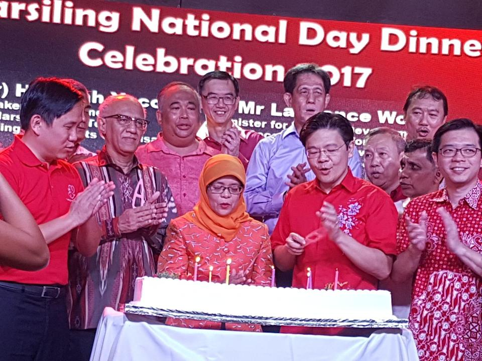 Speaker of Parliament and prospective presidential candidate Halimah Yacob at a National Day celebration event on 6 August. PHOTO: Safhras Khan/Yahoo News Singapore