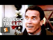 "<p><em>Jingle All The Way</em> is what happens when a dad (played by Arnold Schwarzenegger) is on a mission to secure the most in-demand toy for his son for Christmas, though waiting until Christmas Eve to do it was probably the wrong call. This one's so perfectly '90s that it'll bring you right back to childhood and your own version of the Turbo-Man toy.</p><p><a href=""https://www.youtube.com/watch?v=jhJYMEzQA-Q"" rel=""nofollow noopener"" target=""_blank"" data-ylk=""slk:See the original post on Youtube"" class=""link rapid-noclick-resp"">See the original post on Youtube</a></p>"