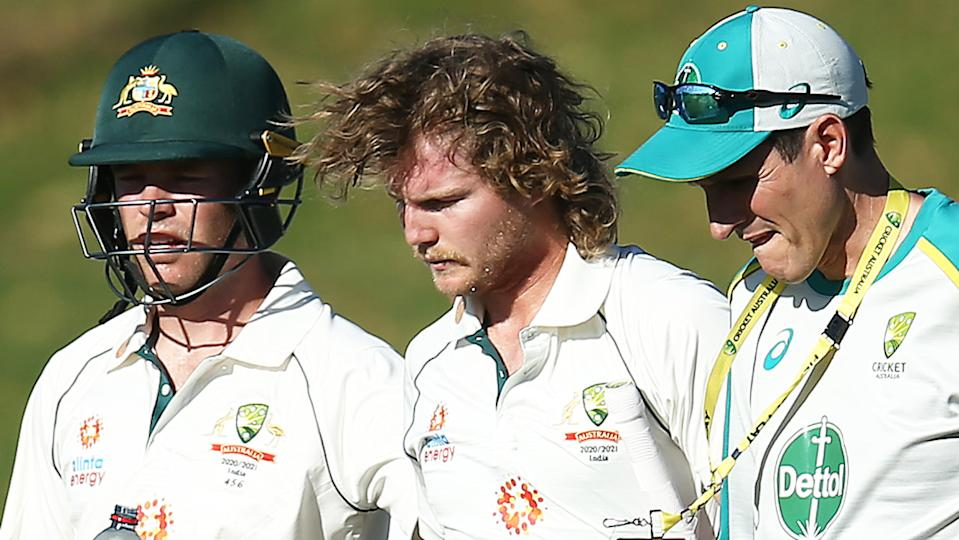 Will Pucovski's latest concussion has led former Australian player Callum Ferguson to question why he hasn't been ruled out of the rest of the Test series against India. (Photo by Jason McCawley/Getty Images)