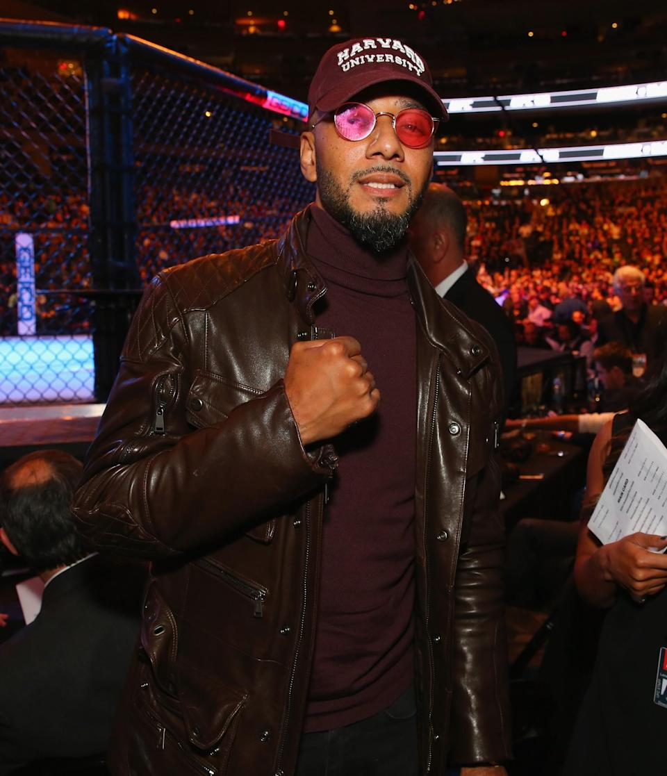 <p>Artist Swizz Beatz is seen during the UFC 205 event at Madison Square Garden on November 12, 2016 in New York City. (Photo by Mike Stobe/Zuffa LLC/Zuffa LLC via Getty Images) </p>