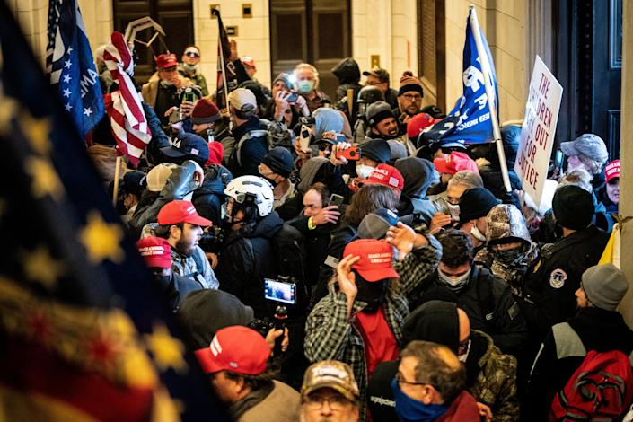 A pro-Trump mob storm the Capitol in Washington, Jan. 6, 2020. (Erin Schaff/The New York Times)