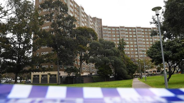 Nine public housing towers have been fully locked down in Melbourne