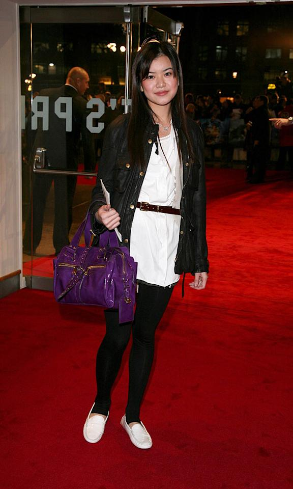 """Katie Leung at """"The Golden Compass"""" world premiere at the Odeon Leicester Square in London, England. Davidson/<a href=""""http://www.infdaily.com"""" target=""""new"""">INFDaily.com</a> - November 27, 2007"""