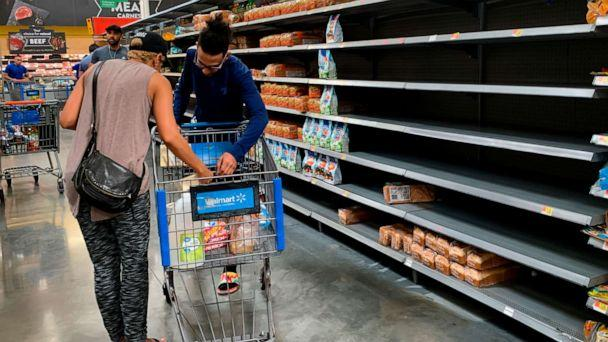 PHOTO: Residents buy supplies at a Walmart in West Miami on August 30, 2019, in preparation for Hurricane Dorian. (Eva Marie Uzcategui/AFP/Getty Images)