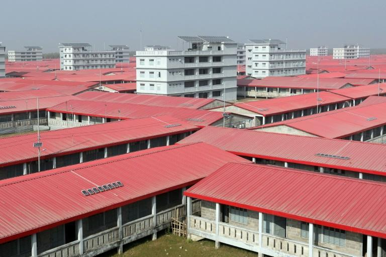 A housing complex where Rohingya refugees are being relocated on Bhashan Char