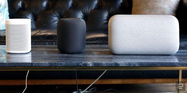 Smart speakers from Sonos, Apple and Google
