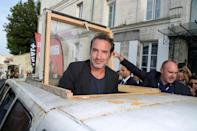 """<p>Dujardin won a Golden Globe for Best Actor in a Motion Picture Musical or Comedy in 2012. The silent film in which he starred took home two more awards that night, but would you even remember <em>The Artist</em> if """"silent film"""" wasn't part of the description?</p>"""