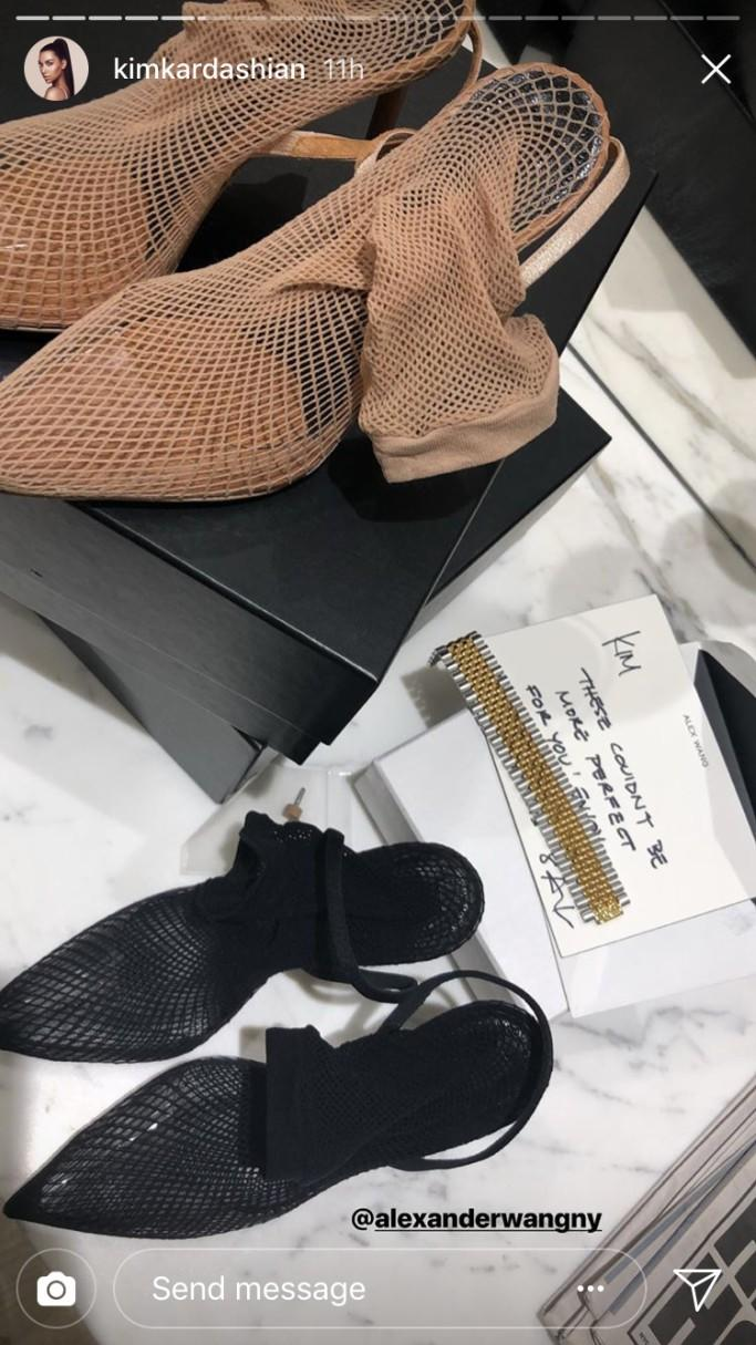 d075576ae3b Kim Kardashian Got the 'Perfect' Sultry Fishnet Booties From ...