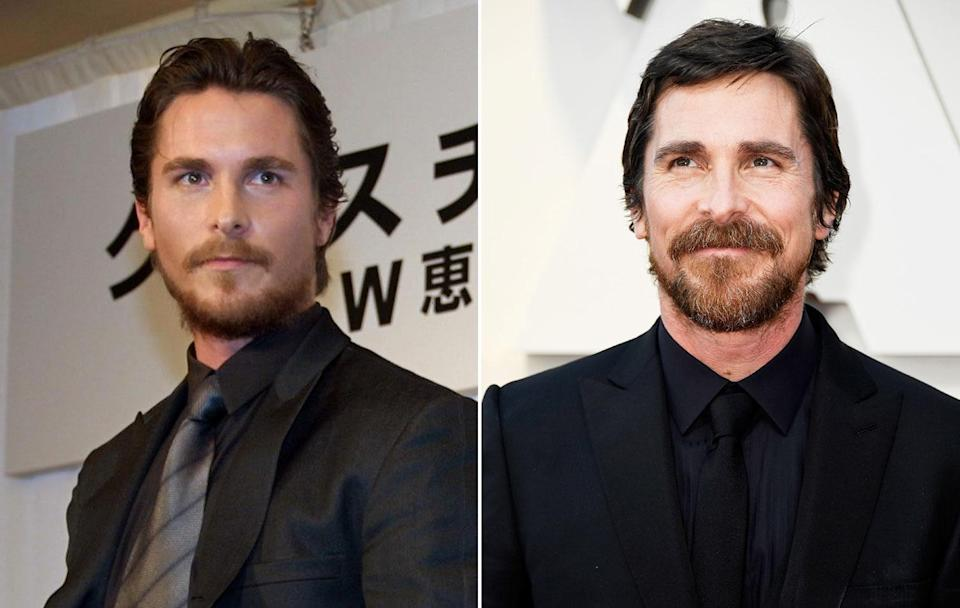 <p>His weight might fluctuate depending on the role but the <em>Vice</em> star's face barely changes (TOSHIFUMI KITAMURA/AFP/Getty Images) </p>