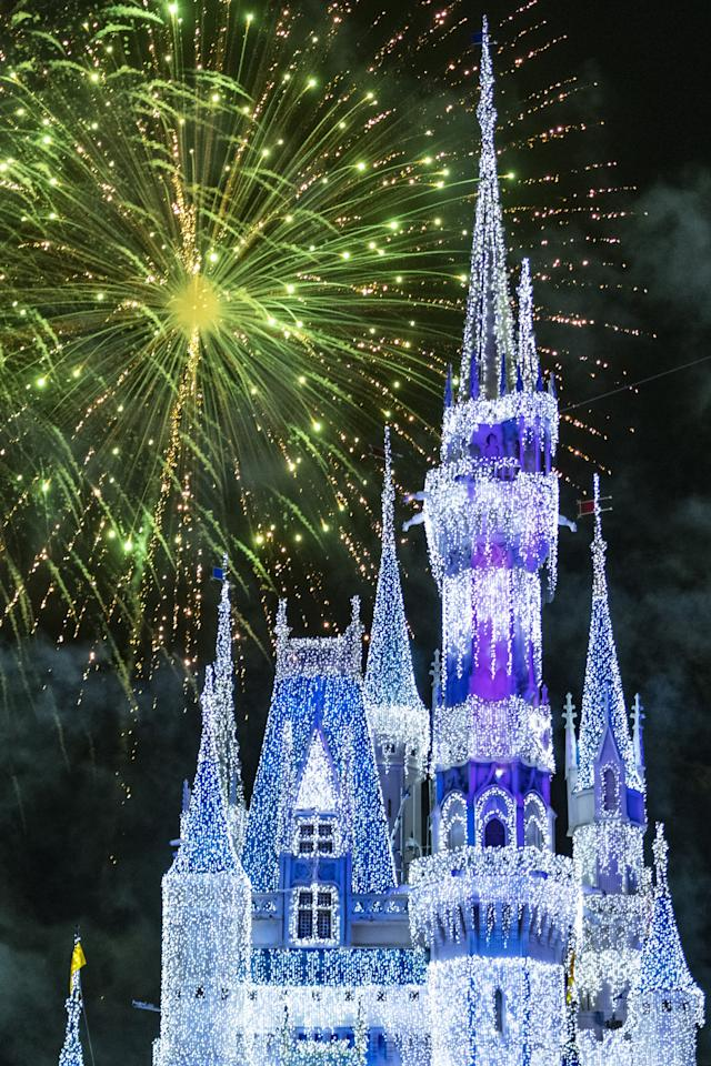 """<p>Each night of <a href=""""https://www.popsugar.com/family/Reasons-You-Should-Visit-Disney-World-Christmas-45185939"""" class=""""ga-track"""" data-ga-category=""""Related"""" data-ga-label=""""http://www.popsugar.com/family/Reasons-You-Should-Visit-Disney-World-Christmas-45185939"""" data-ga-action=""""In-Line Links"""">Mickey's Very Merry Christmas Party</a>, Minnie Mouse takes over for her new fireworks show, Minnie's Wonderful Christmastime Fireworks. The show is said to be inspired by the magic of Christmas and classic holiday songs. Be sure to check the party times guide for the exact time of the show each night. For the best viewing spot, try getting a seat anywhere on Main Street U.S.A. or the bridge into Tomorrowland.</p>"""