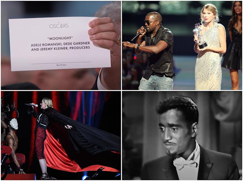 Some of the most excruciating award-show moments (Getty Images/YouTube)
