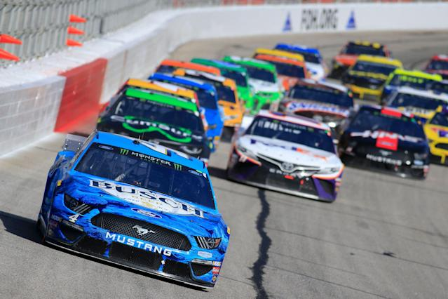 Kevin Harvick led 45 laps on Sunday. (Photo by David J. Griffin/Icon Sportswire via Getty Images)