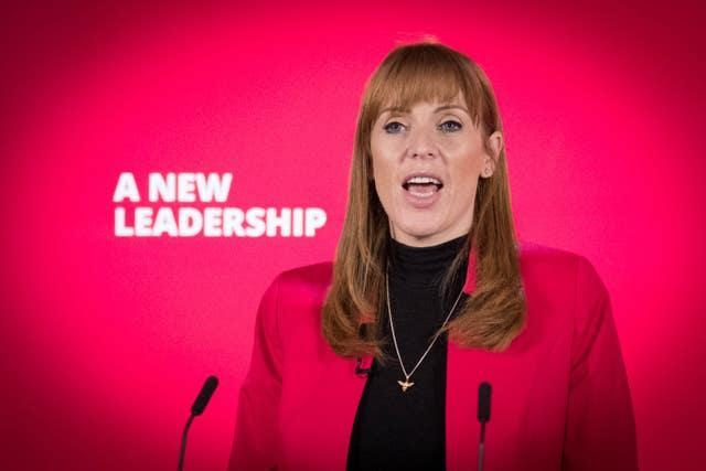 Labour deputy leader Angela Rayner