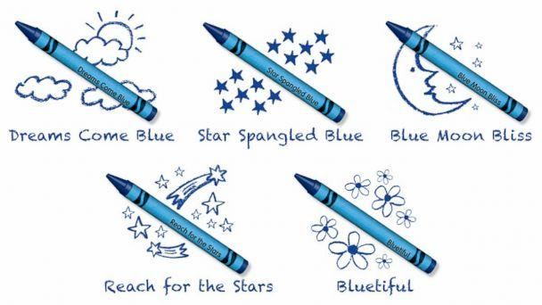 PHOTO: Crayola announced the name of its newest blue crayon selected by Crayola fans. (Crayola)