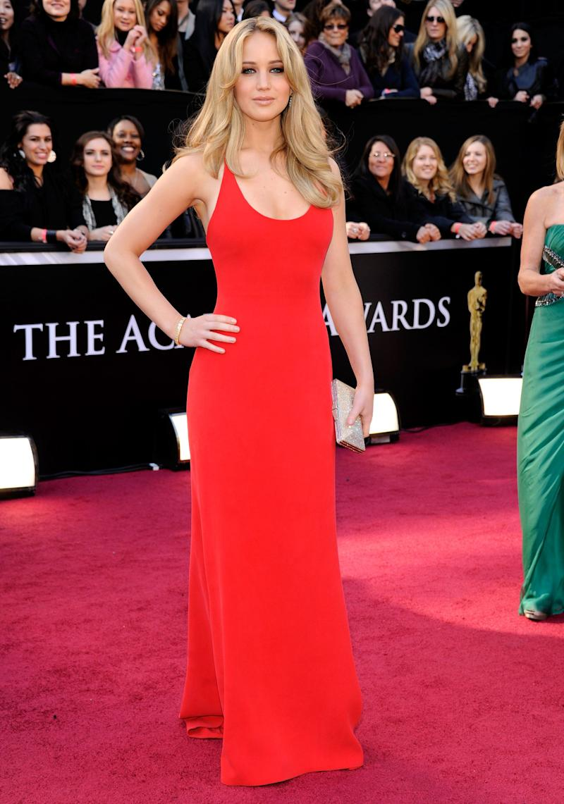 Wearing a Calvin Klein dress at the 83rd Annual Academy Awards held at the Kodak Theatre on Feb. 27, 2011, inLos Angeles.
