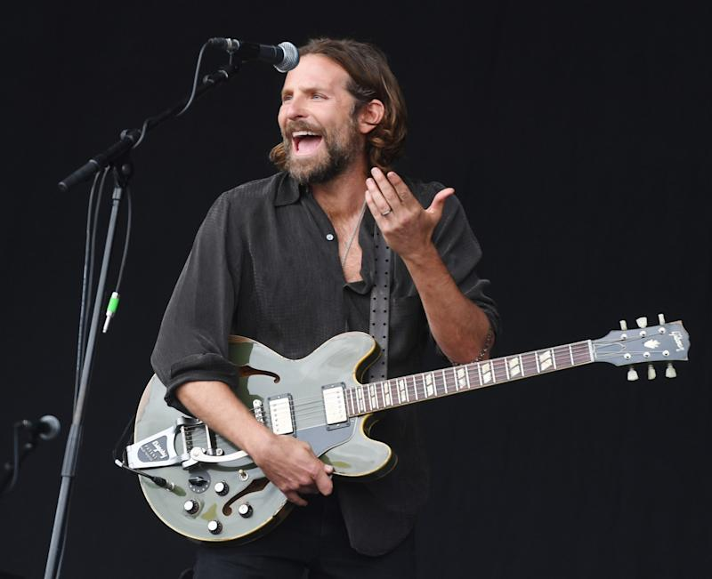Bradley Cooper, opening for Kris Kristofferson (sort of), at Glastonbury 2017 (credit: WENN)