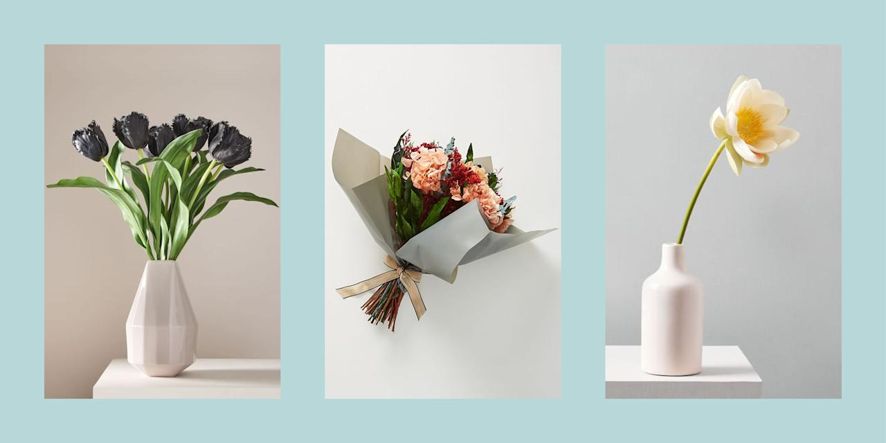 """<p>Flowers are finicky things. Too much sun, they wilt; too much water, they drown. Maintaining your perfect <a href=""""https://www.elledecor.com/design-decorate/g25938784/flower-arrangement-ideas/"""" target=""""_blank"""">floral arrangements</a> can easily become a full-time job, but it doesn't have to be this way. Luckily faux-florals exist and they're looking more and more real all the time. Gone are the days of scouring every aisle in Michael's trying to find a fake flower that didn't just look like plastic. From individual stems to full, <a href=""""https://www.elledecor.com/life-culture/g8971846/wedding-centerpieces/"""" target=""""_blank"""">centerpiece-worthy arrangements</a>, there are countless iterations of hyperrealistic fake flowers that are available to adorn your home. Because who has time to calculate the exact size ice cube to water your orchid with to ensure it won't die while you're at work? </p>"""
