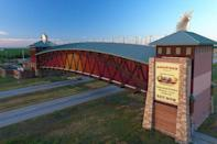 "<p><strong><a href=""https://www.viator.com/tours/Nebraska/Great-Platte-River-Road-Archway-Monument/d22222-75104P1"" rel=""nofollow noopener"" target=""_blank"" data-ylk=""slk:Great Platte River Road Archway Monument"" class=""link rapid-noclick-resp"">Great Platte River Road Archway Monument</a></strong></p><p><strong>Kearny, Nebraska</strong></p><p>The Great Platte River Road Archway in Nebraska is one of the biggest monuments in the state, and the biggest tourist attraction. There's an historical exhibit, a replica sod house, places to picnic, and hiking and biking trails to enjoy while you're checking out a piece of history. </p>"