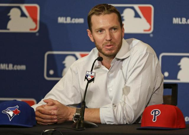Roy Halladay won't be either a Toronto Blue Jay or a Philadelphia Phillie, specifically, in Cooperstown. (AP)