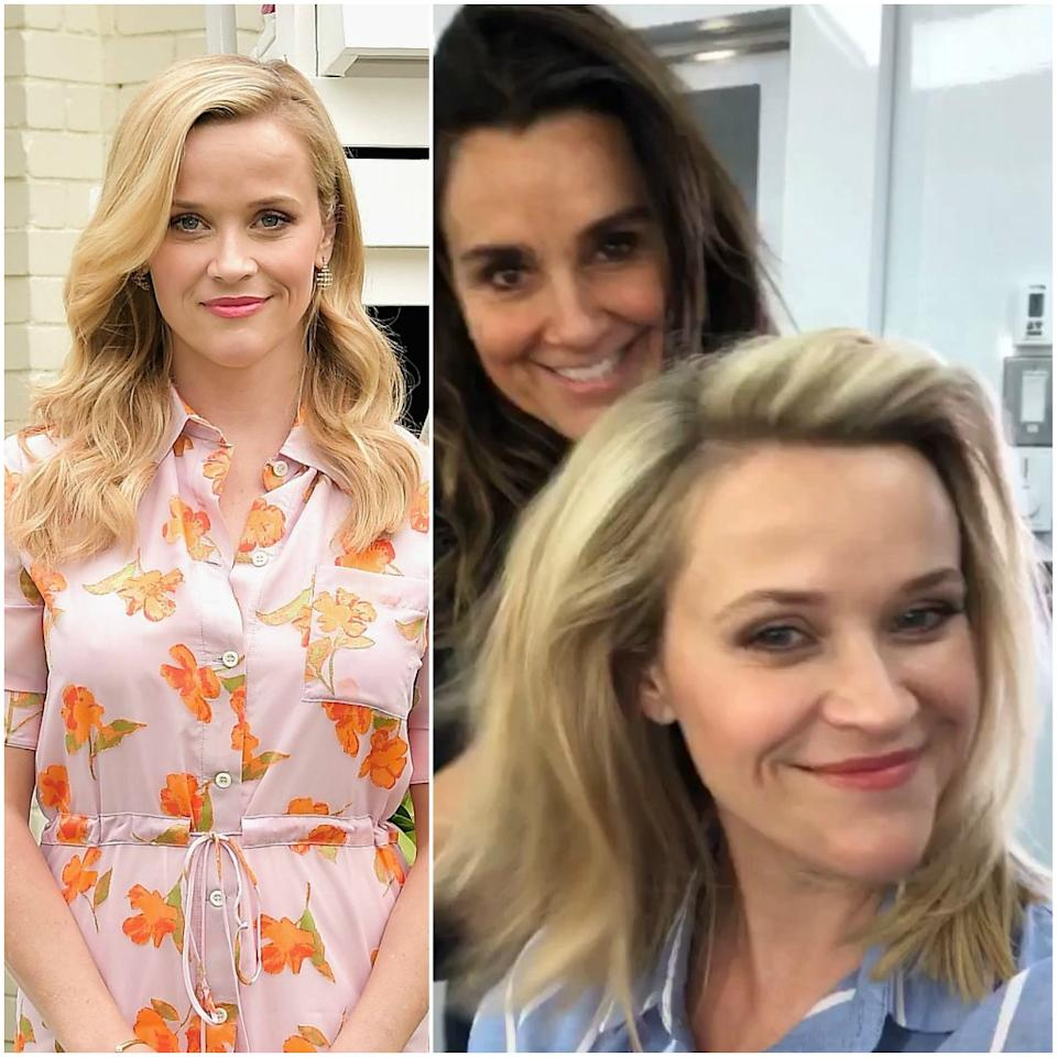 "While a number of celebrities are kicking off summer with a chin-length bob, Reese Witherspoon went for a slightly less dramatic — but still significant— change. Stylist <a href=""https://www.instagram.com/lonavigi/"">Lona Vigi</a> transformed Witherspoon's long waves into a straighter, layered lob, and from the looks of the <a href=""https://www.instagram.com/p/ByTBjDpAE7o/"">Boomerang she posted on Instagram</a>, it's got lots of movement. It's a perfect length for summer, lifting weight off her shoulders (literally) while still being long enough to pull back into a ponytail."