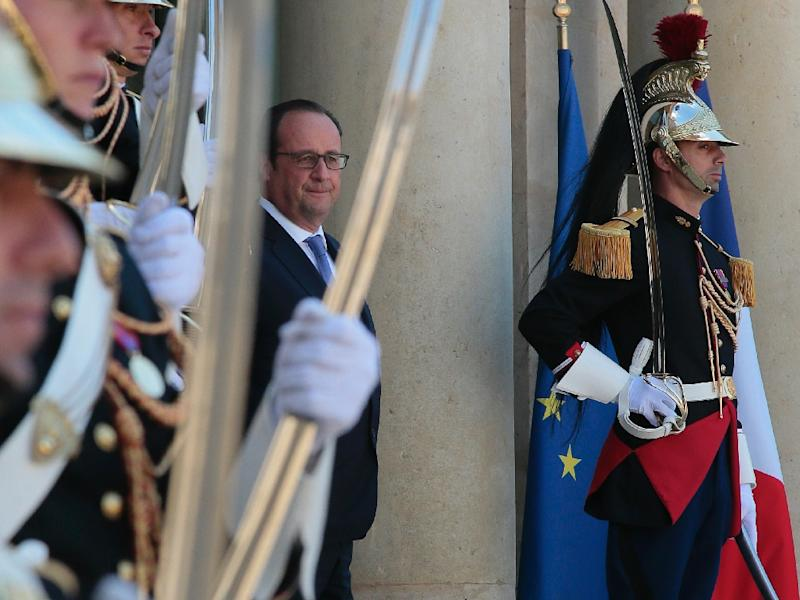 French President Francois Hollande photographed at the Elysee Palace in Paris on June 16, 2015 (AFP Photo/Jacques Demarthon)