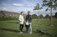 Home at last: Alia, Ahmad and their son Adam fled Iraq to seek out a new, safer life in the Netherlands