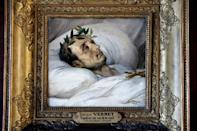 A painting by Horace Vernet, dated 1825, of Napoleon on his deathbed