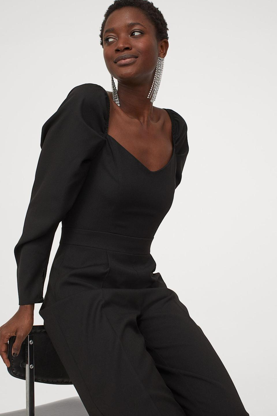 <p>You can't go wrong with this classic and stylish <span>Sweetheart-neckline Jumpsuit</span> ($20, originally $50).</p>