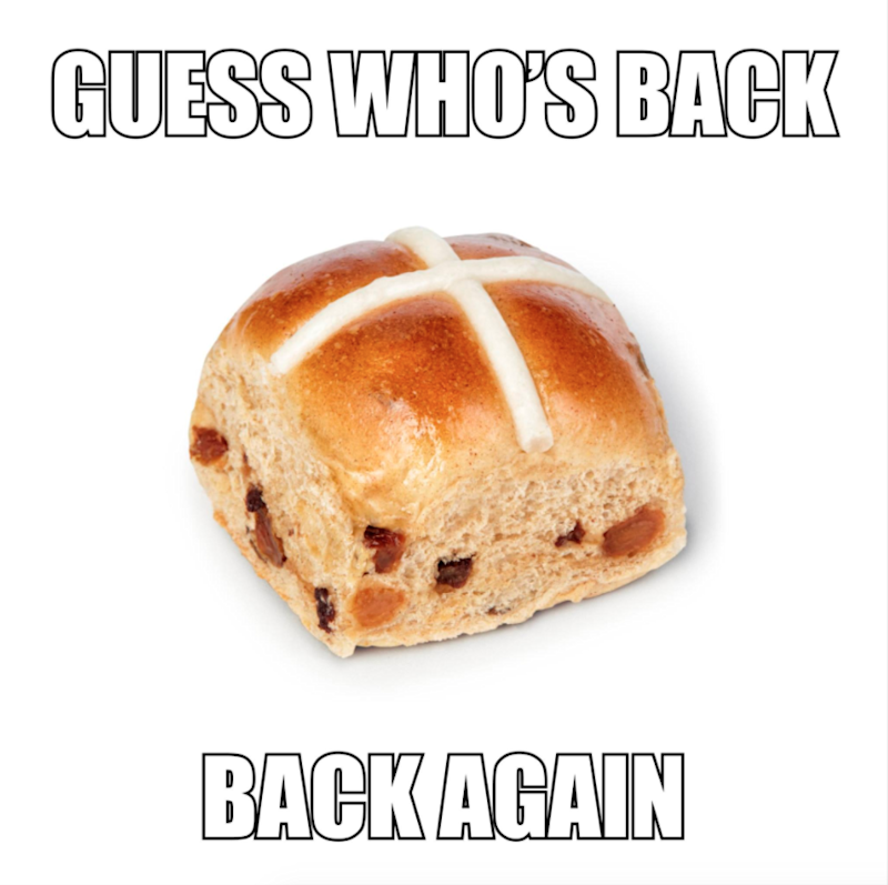 Woolworths hot cross buns