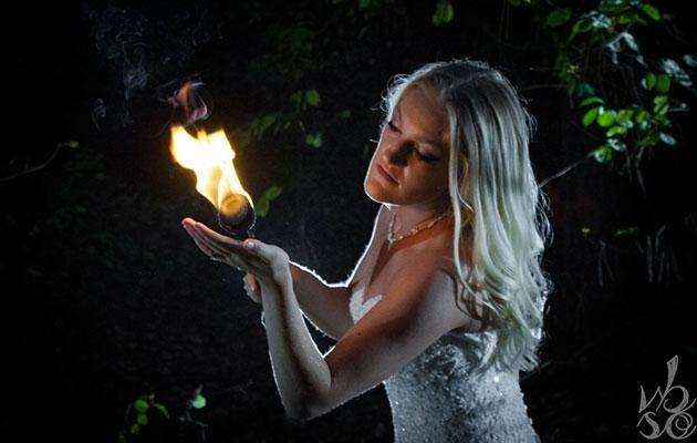 Ashley's love for fire breathing made for amazing snaps. Photo: Sam O. Photo & Bravado Photography & Design