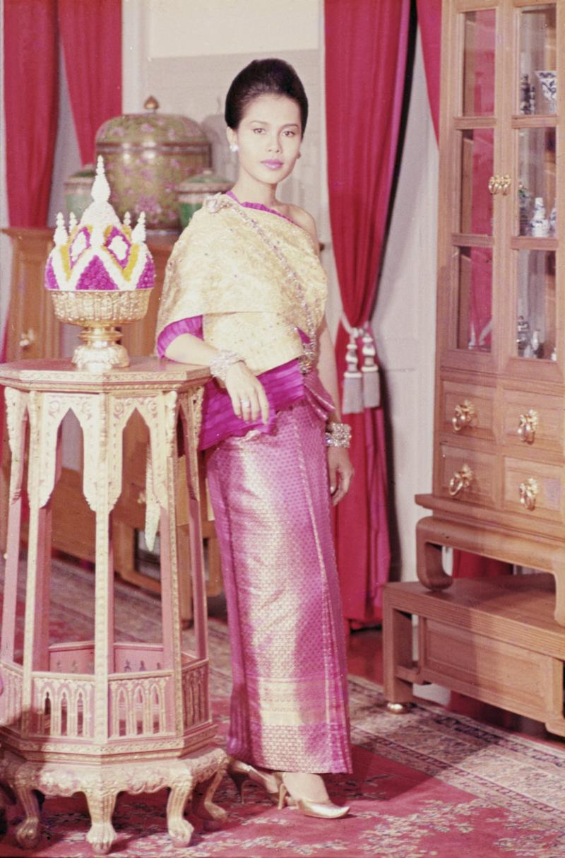 Her Majesty Queen Sirikit, the wife of King Bhumibol, as a young woman. (Photo by Eric-Paul-Pierre PASQUIER/Gamma-Rapho via Getty Images)