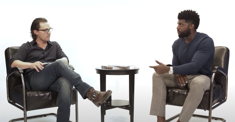 Matthew McConaughey appeared on Emmanuel Acho's Uncomfortable Conversations With a Black Man. (Photo: Uncomfortable Conversations with a Black Man/YouTube)