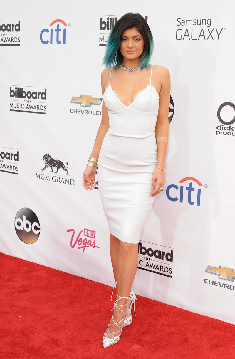 Kylie Jenner in Alex Perry with Louboutin heels at the Billboard Music Awards in Las Vegas, Nevada, May 2014.