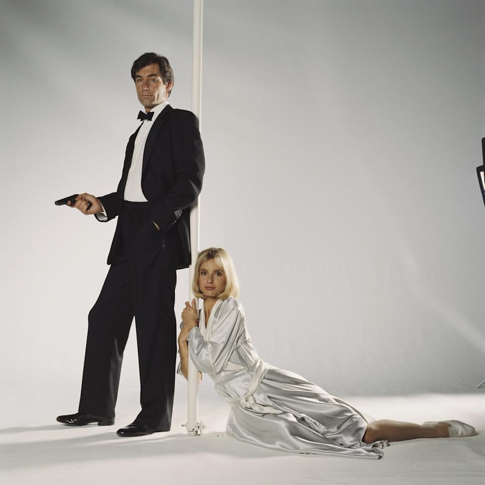 Timothy Dalton and Maryam d'Abo in a publicity still for The Living Daylights - Keith Hamshere/moviepix