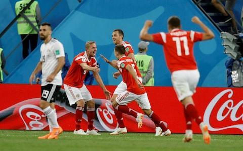 """Russia have continued to refuse to reveal how many drugs tests they have undergone since the World Cup began - after being joined in doing so by England. The manager of the host nation, Stanislav Cherchesov, snubbed questions from the Telegraph about his side's testing record ahead of their final Group A game against Uruguay tomorrow. The Football Association also refused to reveal whether England had undergone any drugs tests beyond those conducted on two players after the final whistle of every match. The Telegraph asked the FA after Russia's team doctor, Eduard Bezuglov, last week bristled at questions about doping checks at the World Cup, declaring: """"We'd also like to know how many probes the English gave."""" The same information was also sought from every other country at the tournament, with seven having responded to the Telegraph's questions on Sunday. Russia have qualified for the knockout stages after two wins out of two Credit: Getty Images Egypt, Croatia, Iceland, Mexico, Poland, Serbia all confirmed their players had undergone no additional tests above the minimum required post-match. Portugal declined to comment, although it is understood they, too, had been subjected to no supplementary testing. Russia and England were joined by Costa Rica - infuriated at the last World Cup when seven of their players were tested after their shock win over Italy - in refusing to disclose any details of sample collections carried out on their players. Cherchesov said on Sunday: """"Is this a question about the match or philosophy? I am not a doctor. We are talking about the match here."""" World Cup 2018 
