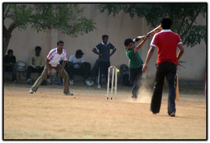 ... and bowled him! By Nandi JMC [SCPC5] https://www.flickr.com/photos/7977965@N02/