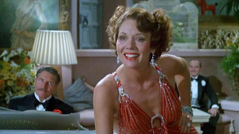 Diana Rigg in 'Evil Under the Sun'. (Credit: Universal/Associated Film Distribution)