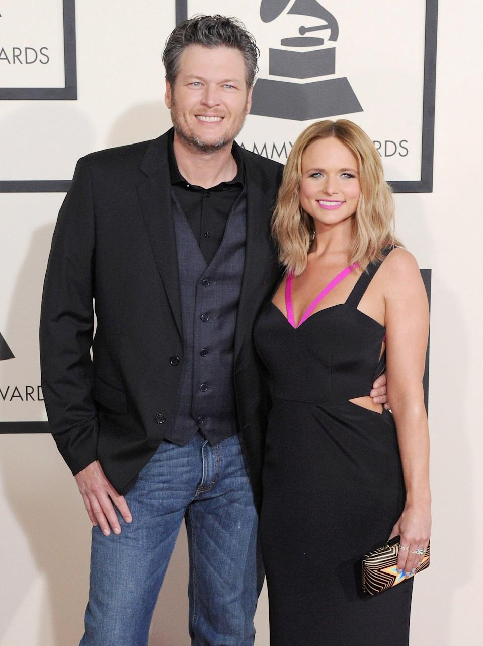 "<p>Lambert and Shelton, who had been married since 2010 and together since 2006, announced their divorce in July 2015. <strong>Us Weekly</strong> reported that <a href=""http://www.usmagazine.com/celebrity-news/news/blake-shelton-miranda-lambert-divorce-finalized-hours-after-split-report-2015207/"" class=""link rapid-noclick-resp"" rel=""nofollow noopener"" target=""_blank"" data-ylk=""slk:the couple's divorce was finalized"">the couple's divorce was finalized</a> almost immediately after the announcement. ""This is not the future we envisioned, and it is with heavy hearts that we move forward separately. We are real people, with real lives, with real families, friends, and colleagues. Therefore, we kindly ask for privacy and compassion concerning this very personal matter,"" the couple said in a joint statement. It was the second divorce for Shelton, whose marriage to Kaynette Williams ended in 2006.</p> <p><br></p>"