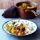 """<p>This filling curry will please veggies and meat eaters alike.</p><p><strong>Recipe: <a href=""""https://www.goodhousekeeping.com/uk/food/recipes/a537144/aubergine-and-chickpea-masala/"""" rel=""""nofollow noopener"""" target=""""_blank"""" data-ylk=""""slk:Aubergine and chickpea masala"""" class=""""link rapid-noclick-resp"""">Aubergine and chickpea masala</a></strong></p>"""