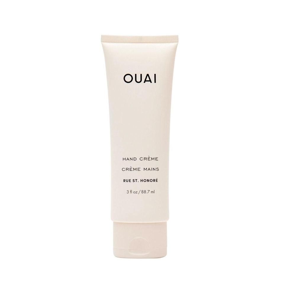 """This rich and luxurious hand cream by Ouai is exactly the lather my cold, dried-out hands demanded this winter. It's with a mix of rich butters like coconut, shea, and murumuru to deeply heal and soften your hands, along with a light floral scent that's neither irritating nor cloying. —<em>T.G.</em> $24, OUAI. <a href=""""https://shop-links.co/1726000374703818260"""" rel=""""nofollow noopener"""" target=""""_blank"""" data-ylk=""""slk:Get it now!"""" class=""""link rapid-noclick-resp"""">Get it now!</a>"""