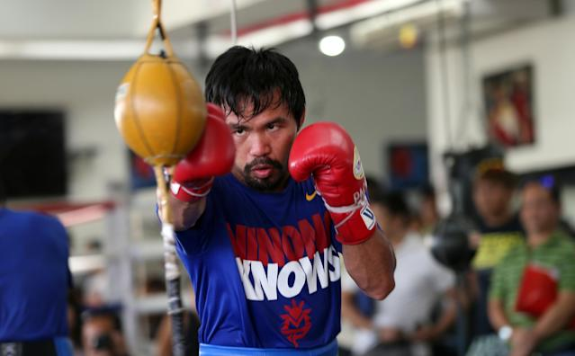 Manny Pacquiao's 'strategy' for his rematch against Timothy Bradley