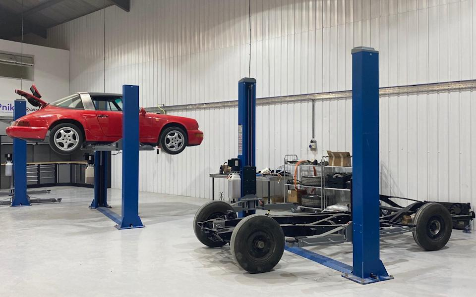 Porsche 911 Targa and classic Bentley being converted to EV electric propulsion