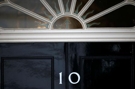 A view of the door at 10 Downing Street