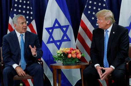 Israeli Prime Minister Benjamin Netanyahu speaks during a bilateral meeting with U.S. President Donald Trump on the sidelines of the 73rd session of the United Nations General Assembly at U.N. headquarters in New York, U.S., September 26, 2018. REUTERS/Carlos Barria