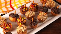 "<p>Not that you needed an excuse to eat donuts on Thanksgiving Day but...here it is.</p><p>Get the recipe from <a href=""https://www.delish.com/cooking/recipe-ideas/recipes/a54932/acorn-donut-holes-recipe/"" rel=""nofollow noopener"" target=""_blank"" data-ylk=""slk:Delish"" class=""link rapid-noclick-resp"">Delish</a>.</p><p><a class=""link rapid-noclick-resp"" href=""https://www.amazon.com/Decopac-Harvest-Thanksgiving-Sequins-Sprinkles/dp/B07GZBMLH6/?tag=syn-yahoo-20&ascsubtag=%5Bartid%7C1782.g.33808794%5Bsrc%7Cyahoo-us"" rel=""nofollow noopener"" target=""_blank"" data-ylk=""slk:BUY NOW"">BUY NOW</a> <em><strong>Leaf sprinkles, $17.93</strong></em></p>"