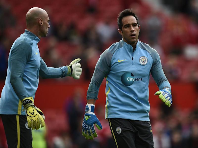 Willy Caballero and Claudio Bravo in training together (Getty)