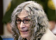 """FILE - This Jan. 11, 2010 file photo shows, Rodney Alcala, a former death row inmate who was twice convicted of the 1979 killing of a 12-year-old Huntington Beach girl, sitting in Orange County Superior Court in Santa Ana, Calif. Alcala, a prolific serial torture-slayer dubbed """"The Dating Game Killer"""" has died while awaiting execution in California. (AP Photo/Nick Ut, File)"""