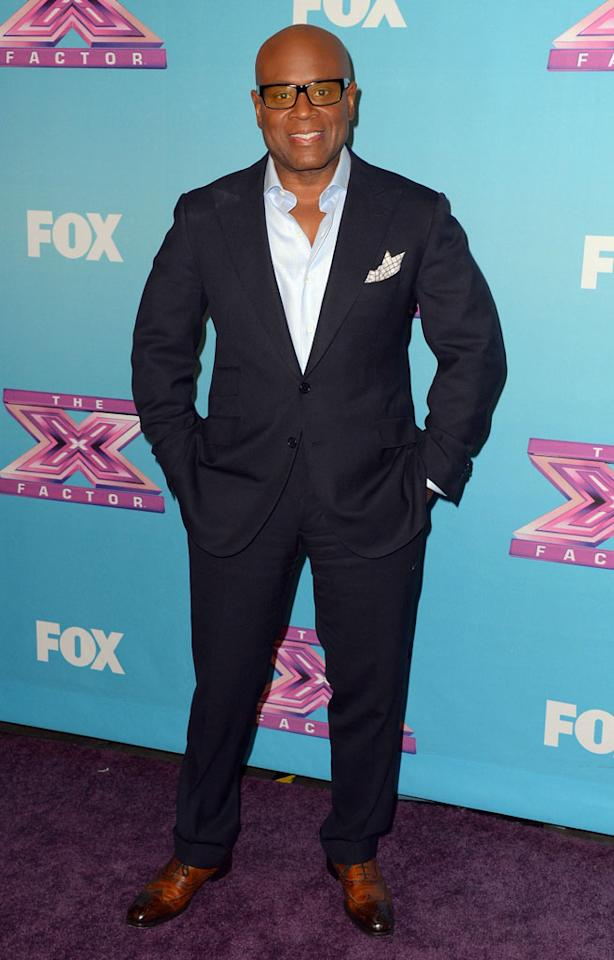 "L.A. Reid arrives at Fox's ""The X Factor"" Season Finale Night 1 at CBS Televison City on December 19, 2012 in Los Angeles, California."