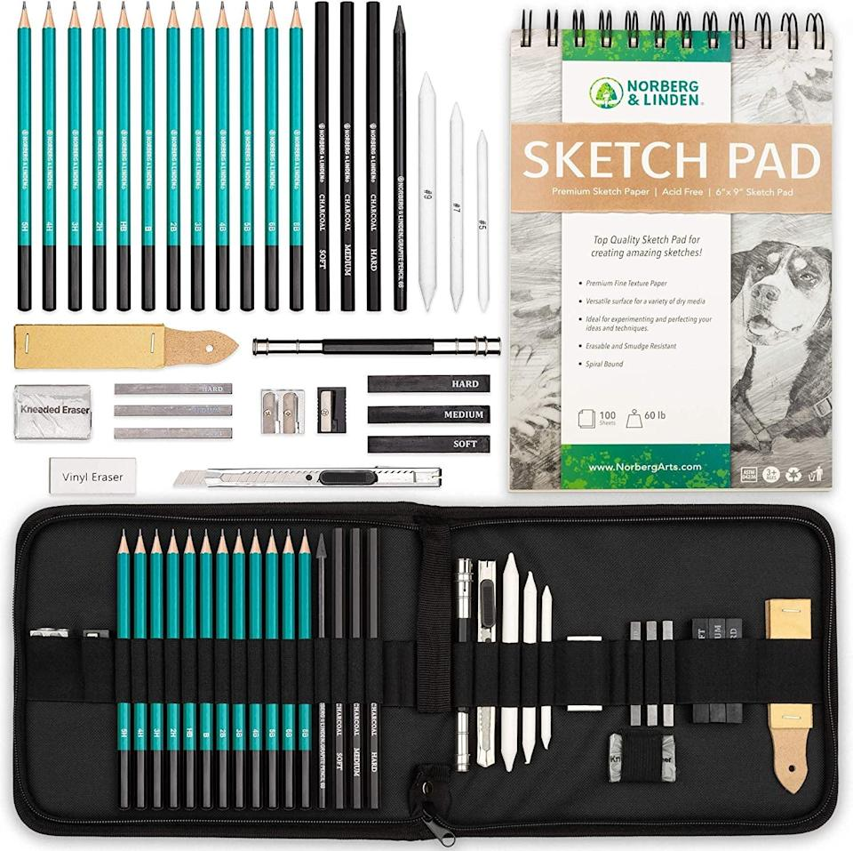 <p>Drawing is a great way to clear my head and be creative, judgment free. To be clear, I am terrible at drawing, but I find it enjoyable, and I am looking forward to using creative expression to destress in 2021. This <span>XL Drawing Set</span> ($29) has everything you need to get creative.</p>