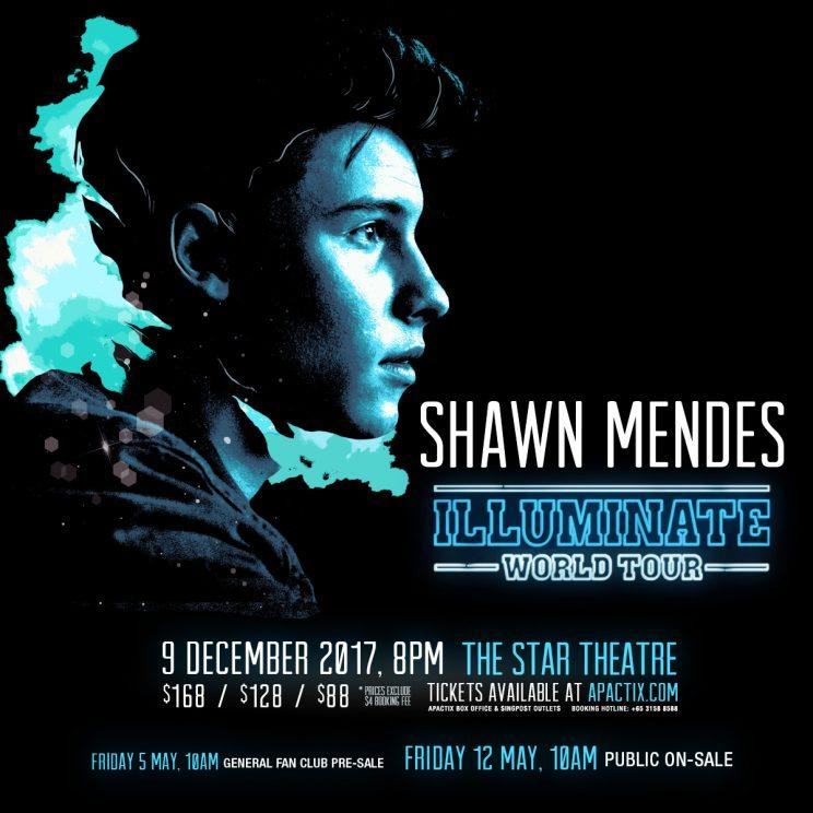 Shawn Mendes' Singapore concert poster (Photo: AEG Presents)